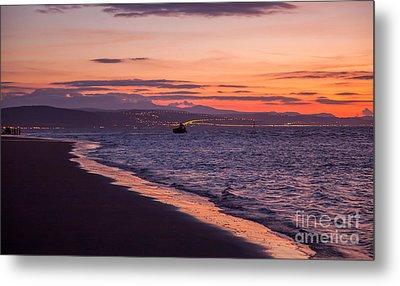 Beach Sunset Metal Print by Adrian Evans