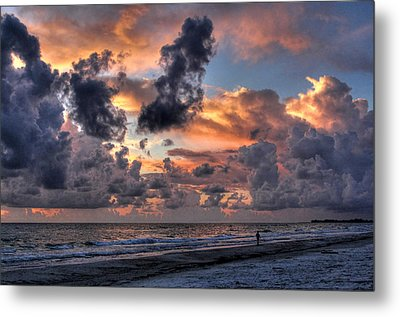 Beach Walk - Florida Seascape Metal Print by HH Photography of Florida