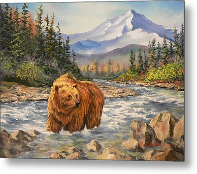 Bear Country Metal Print by Gracia  Molloy