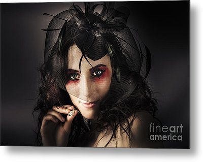 Beautiful Jewellery Woman Wearing Necklace Metal Print by Jorgo Photography - Wall Art Gallery