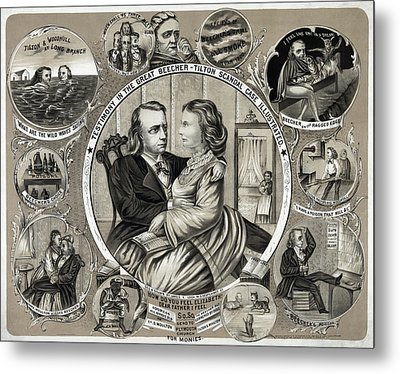 Beecher-tilton Scandal Metal Print by Granger