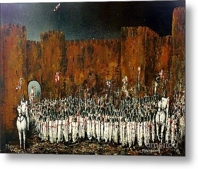 Before Battle Metal Print by Kaye Miller-Dewing