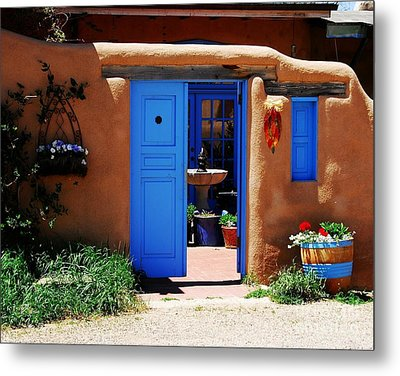 Behind A Blue Door 1 Metal Print