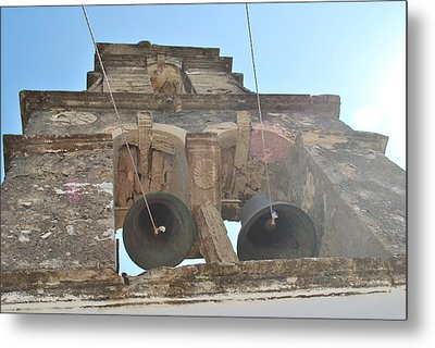 Metal Print featuring the photograph Bell Tower 1584 by George Katechis