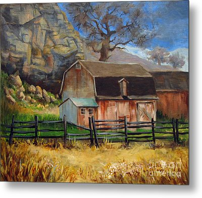 Bellvue Barn Metal Print