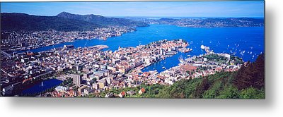 Bergen Norway Metal Print by Panoramic Images