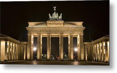 Berlin Brandenburg Gate Metal Print by Frank Tschakert