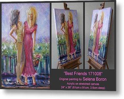 Metal Print featuring the painting Best Friends 171008 by Selena Boron
