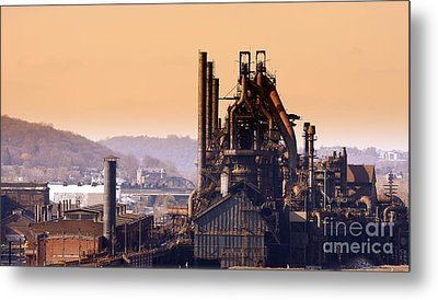 Bethlehem Steel Metal Print by Marcia Lee Jones