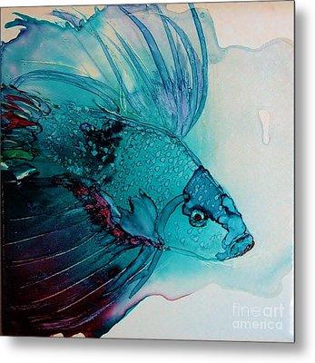 Betta Dragon Fish Metal Print