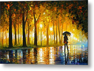 Bewitched Park Metal Print by Leonid Afremov