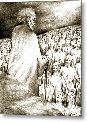 Metal Print featuring the drawing Biblical Illustration by Alex Tavshunsky