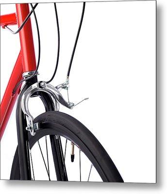 Bicycle Brakes Metal Print by Science Photo Library