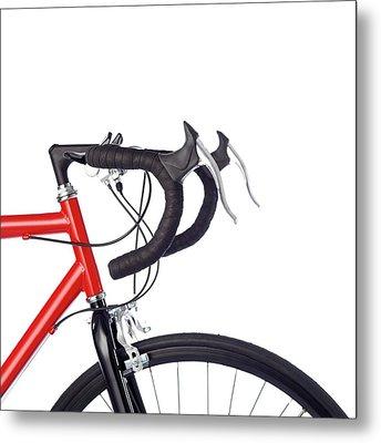 Bicycle Handlebars Metal Print by Science Photo Library