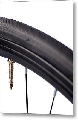 Bicycle Tyre Valve Metal Print