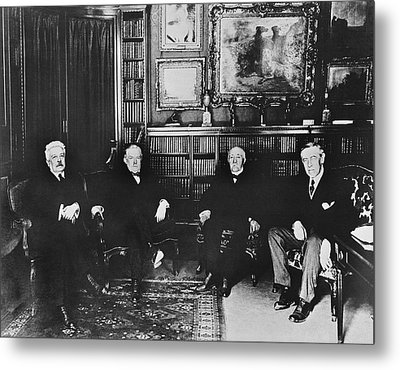 Big Four At Versailles Metal Print by Underwood Archives