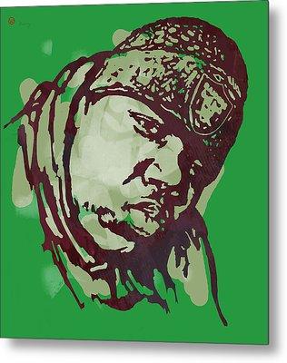 Biggie Smalls Modern Colour Etching Art  Poster Metal Print