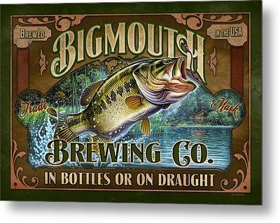 Bigmouth Brewing Metal Print by JQ Licensing