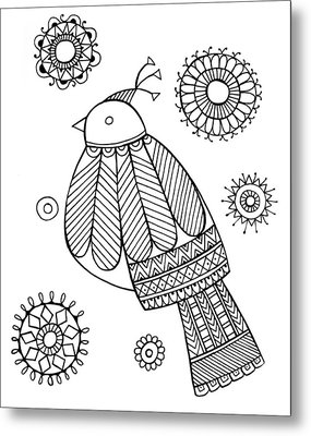 Bird Dove Metal Print by Neeti Goswami