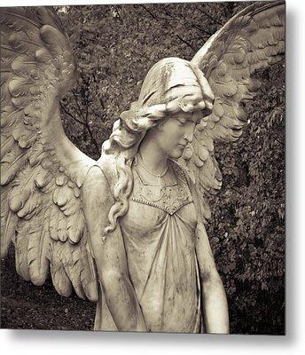 Black And White Angel Metal Print by Patsy Zedar