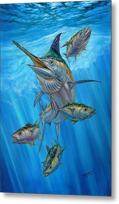 Black Marlin And Albacore Metal Print