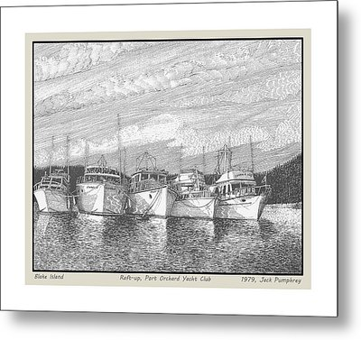 Northwest Raft Up Metal Print