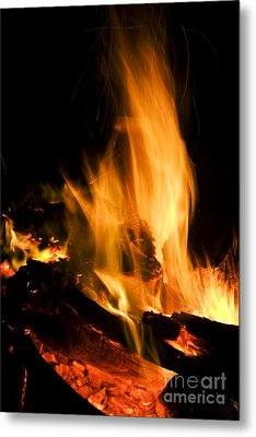 Blazing Campfire Metal Print by Jorgo Photography - Wall Art Gallery
