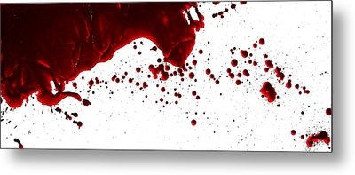 Blood Spatter Series Metal Print
