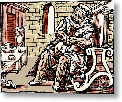 Bloodletting For Weight Reduction Metal Print by Science Source
