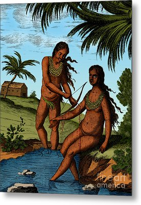 Bloodletting Native Central American Metal Print by Science Source