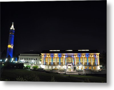 Blue And Gold Campus Metal Print