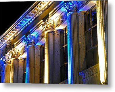 Blue And Gold Doe Library Metal Print
