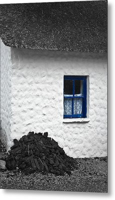 Metal Print featuring the photograph Blue Cottage Window by Jane McIlroy