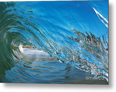 Blue Glass Metal Print
