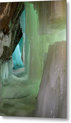 Blue Green Ice Metal Print