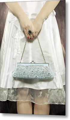 Blue Handbag Metal Print by Joana Kruse