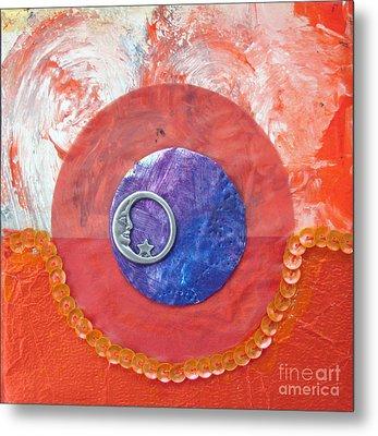 Blue Moon Metal Print by Ellen Miffitt
