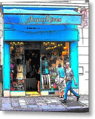 Got The Blues In Paris Metal Print by Jan Matson