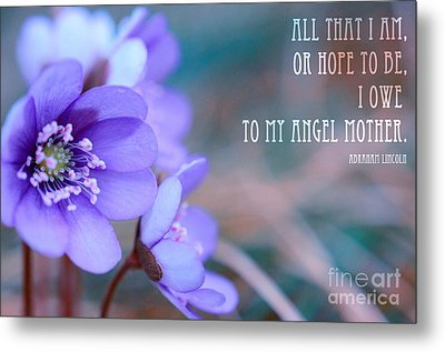 Blue Springtime Flowers Mother's Day Metal Print by Sabine Jacobs