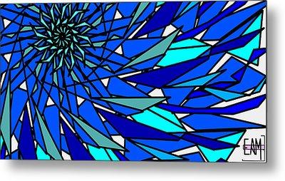 Blue Sun Metal Print by Elizabeth McTaggart