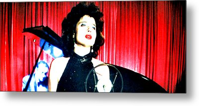 Metal Print featuring the painting Blue Velvet by Luis Ludzska