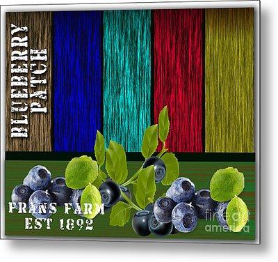 Blueberry Patch Metal Print