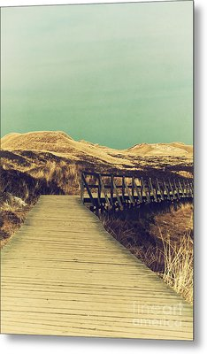 Boarded Walkway Metal Print by Angela Doelling AD DESIGN Photo and PhotoArt