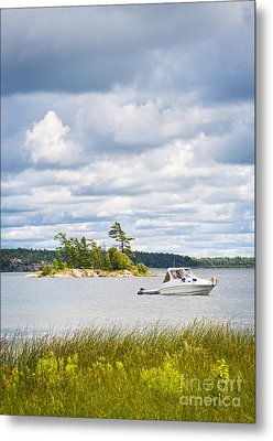 Boat On Georgian Bay Metal Print