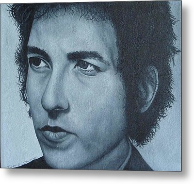 Metal Print featuring the painting Bob Dylan by David Dunne