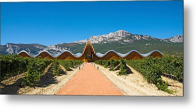 Bodegas Ysios Winery Building Metal Print by Panoramic Images