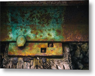 Bolted Metal Print by Karol Livote