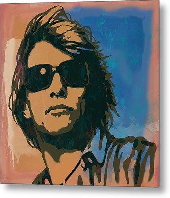 Bon Jovi Long Stylised Drawing Art Poster Metal Print