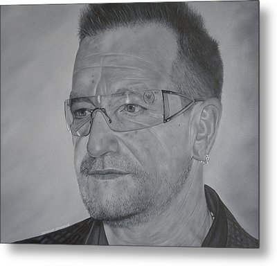 Metal Print featuring the painting Bono by David Dunne