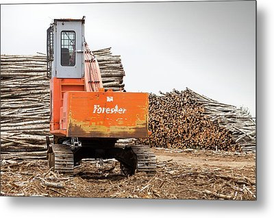 Boreal Forest Felled For Tar Sands Mine Metal Print by Ashley Cooper